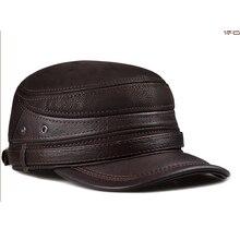 Gorra Militar sombrero mujer sombreros de invierno para los hombres y las  mujeres de las señoras Militar sombrero de cuero genui. 51b18e60223