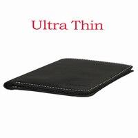 Ultra Thin Men Wallet Mini Super Slim Small Purse Male Genuine Real Leather New Design Model