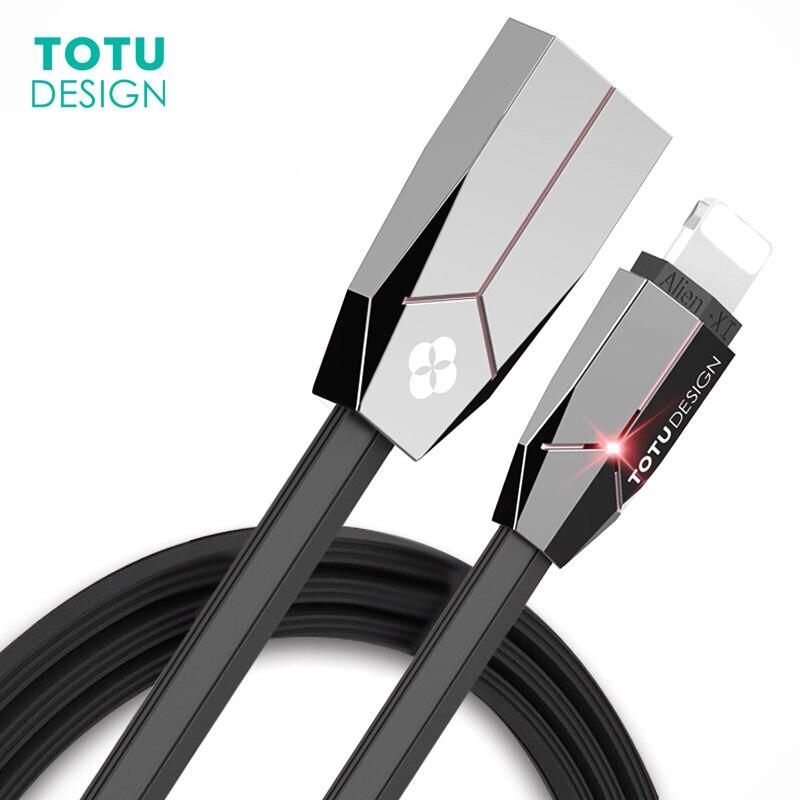 TOTU Светодиодное освещение USB кабель для <font><b>iPhone</b></font> X 8 7 плюс быстрая синхронизации данных зарядный Зарядное устройство для <font><b>iPhone</b></font> 6, 6 S плюс 5S SE iPad возду&#8230;