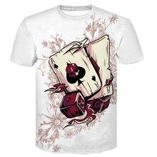Newest Cartoon Rick and Morty Summer Skull Poker Print Men Short Sleeve T-shirt 3D T Shirt Casual Breathable tshirts  Plus-size цены