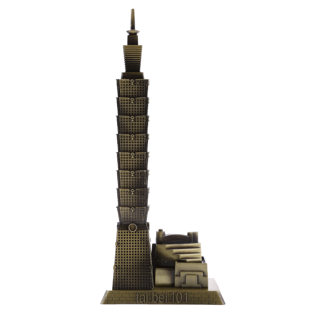 Vintage Taipei 101 Tower Building Sculpture Figurine Statue Model of Taiwan Home/Office Decor Collectibles(China)
