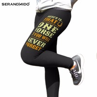 2017 New Arrival Women Leggings Hot Sale Customized Letter Printed Trousers Pants High Impact Elastic Ladies