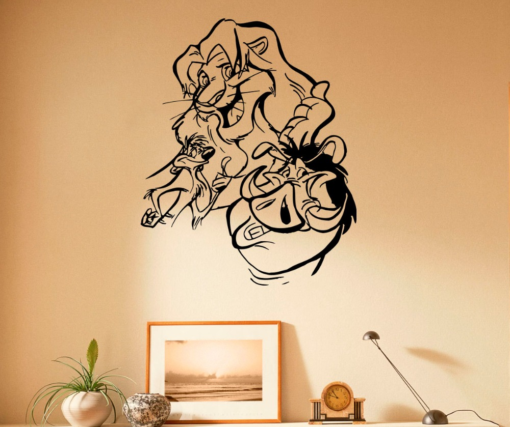 Kids Nursery Rooms Wall Decal For Lion King Classic Cartoon Wall ...