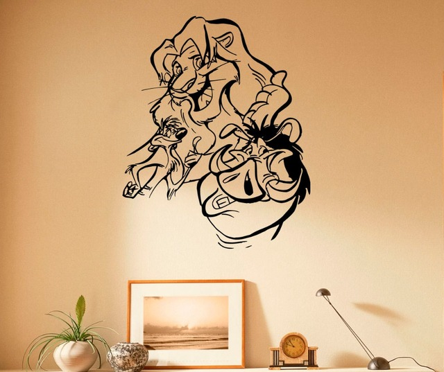 Kids Nursery Rooms Wall Decal For Lion King Classic Cartoon Wall - Lion king nursery wall decals