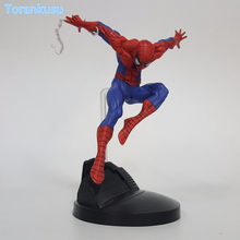 Figura de ação do Homem-Aranha Peter Benjamin Parker PVC Figure Toy 150 milímetros Filme Anime Spider Man Collectible(China)