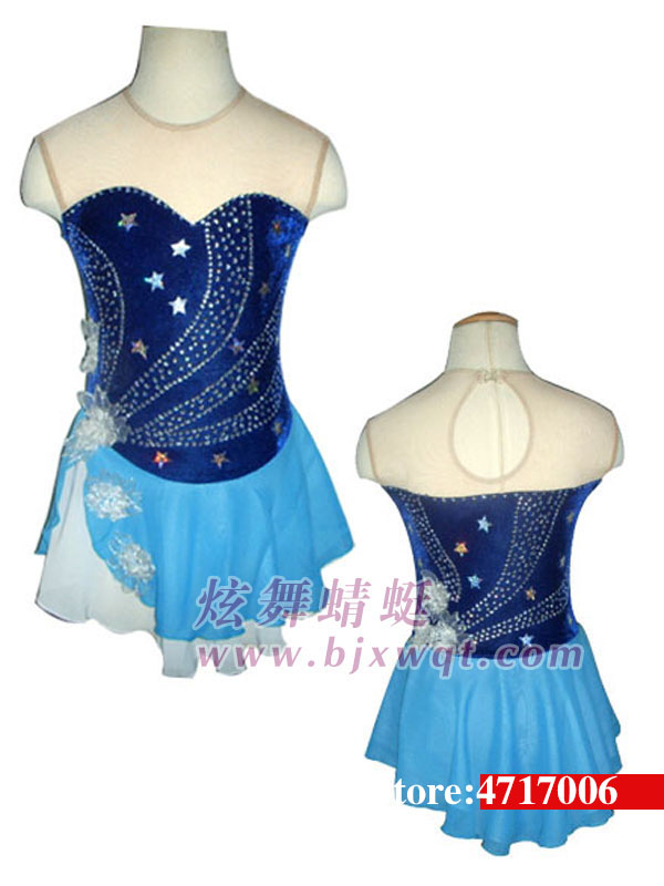 Ice Skating Dress Competition Figure Skating Baton Twirling Costume Adult Child