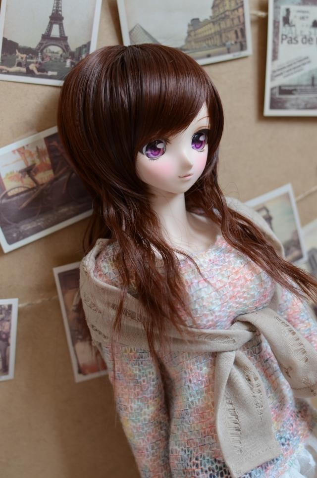 Doll Wigs Medium Length Curly Hair Available For 1/4 1/3 Size BJD DD SD Doll Accessories BJD Doll Hairs