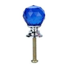 20 мм двери Хрустальные стеклянные бриллианты керамический шкаф ящик шкаф ручка выдвижной ручки дверь для межкомнатной двери F301205