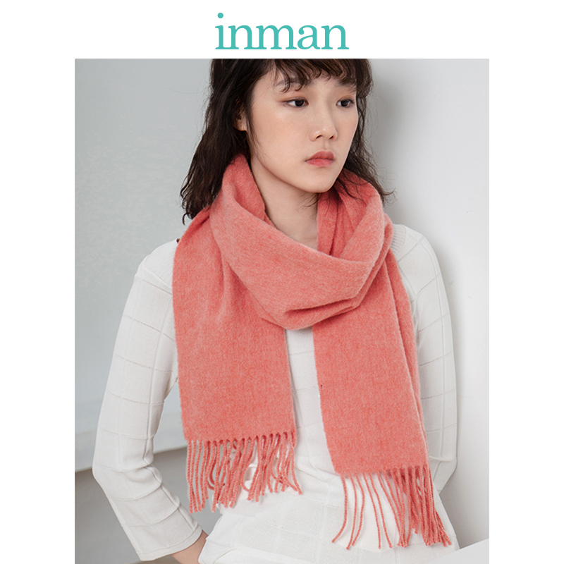 INMAN Winter Spring Autumn Use Cashmere Material Solid Women Scarf And Shawl