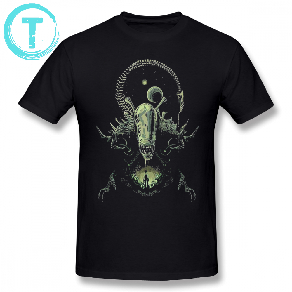 Alien   T     Shirt   Alien   T  -  Shirt   Cartoon Printed Summer Tee   Shirt   Plus Size 4XL 6XL Men Fun Cotton Short Sleeve Beach Cotton Tshirt