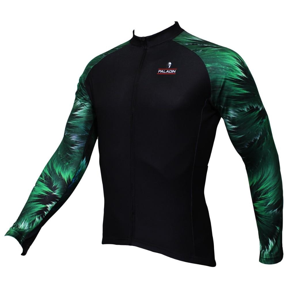 c6917fd1f PALADIN Wood Grain Mens Long Sleeve Cycling Jersey Bike Shirt Cycling  Clothing