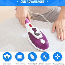 Flat Hot Hang Hot Hand-Held Hang Hot Machine Travel Portable Steam ELectric Iron Home Hand-held Steam Ironing Brush