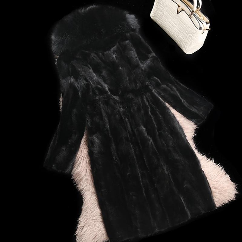 À Renard De Vêtement 4xl Manteau Capuche Morceau 3xl Vison Véritable Hiver Luxe Manteaux Chaude Veste Femmes black Fourrure Grey Automne Lf4225 xw0Z4w8n