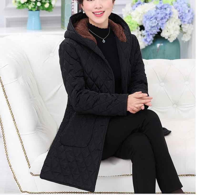 16398f9aaef Зимняя куртка женская куртка зима 2018 модная одежда Женская длинная куртка  женская куртка 6XL одежда верхняя