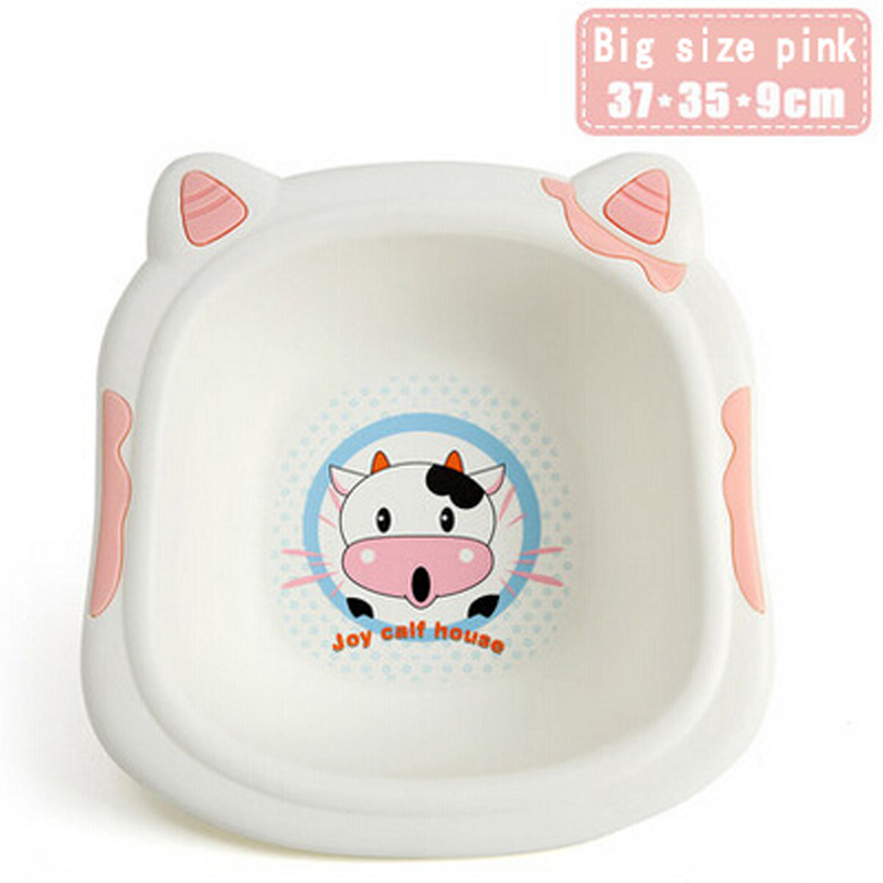 Big size cute cow cartoon baby washbasin, thicker trumpet baby home ...