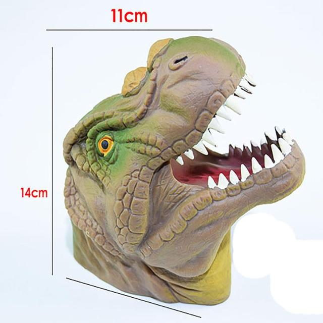 Dinosaur Animal Hand Puppet Baby Infant Kid Toy Plush Toys Silica Gel Spoof Develop Kids Imagination toy for kid gift Cherryb