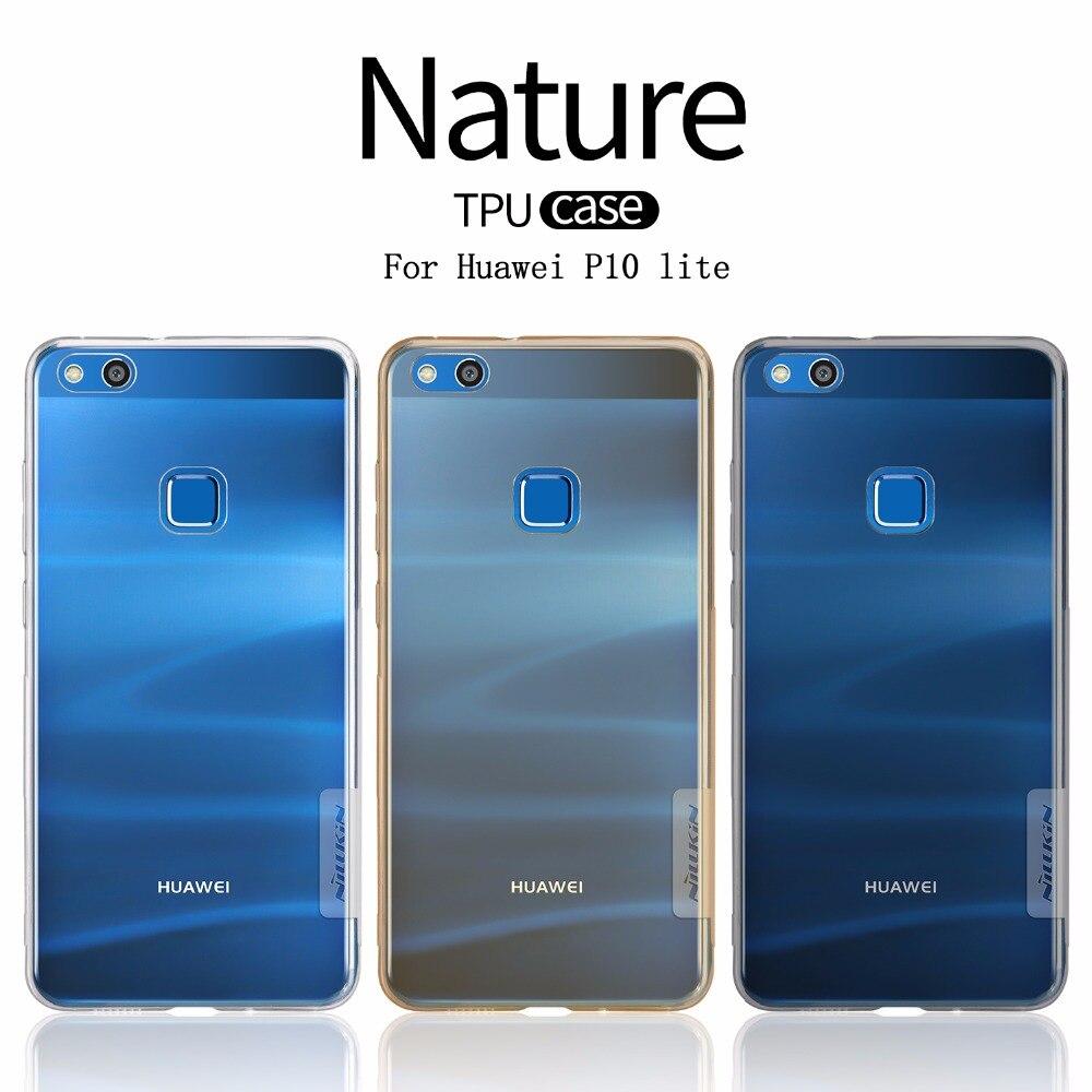 Huawei P10 caso lite NILLKIN Natura Ultra sottile trasparente TPU Trasparente caso molle della copertura posteriore per Huawei P10 lite