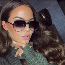 Fashion Gradient Aviation Sunglasses Women UV400 Retro Brand