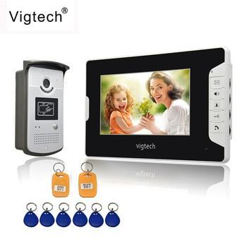 "Vigtech Home 7"" Video Intercom Door Phone System With 1 golden Monitor 1 RFID Card Reader HD Doorbell Camera FREE SHIPPING"