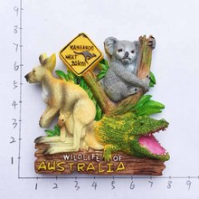 Australia three beasts tourist souvenirs three-dimensional refrigerator stickers rookie yearbook three stickers