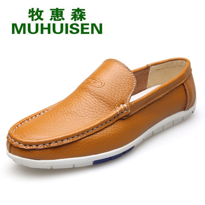 Genuine Leather Men Loafers Slip on Boat Shoes Male Flats Casual Shoes Breathable Driving Shoes Moccasin Gommino Sapato XK052806 big size 39 48 men flats summer genuine leather loafers breathable driving shoes moccasines slip on male casual shoes xk032808