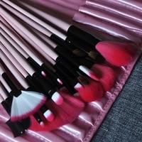 Professional Brush Set Gradient Horsehair Pink Make Up Brushes 22pcs Make Up Tools Kits Soft Skin