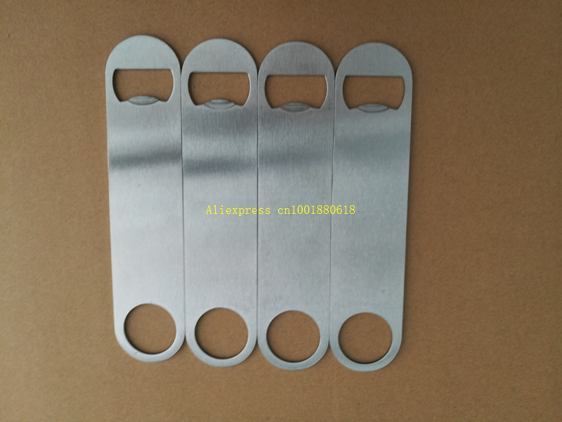 100pcs lot Fast shipping 18x4cm size Large Flat Stainless Steel Speed BEER Bottle Opener Remover Bar