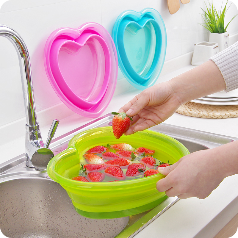 Baby Bath Heart-Shaped PP Material Baby Folding Bath Children's Bath Tub Baby Washbasin Children's Newborn Bathing Supplies Pool somang redflo кондиционер для волос 750 мл