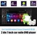 Para F/ord M/ondeo/F ocus T/ransit C-M/AX Car DVD Player 2 Din 7 de polegada Stereo tela de toque de Rádio GPS espelhamento