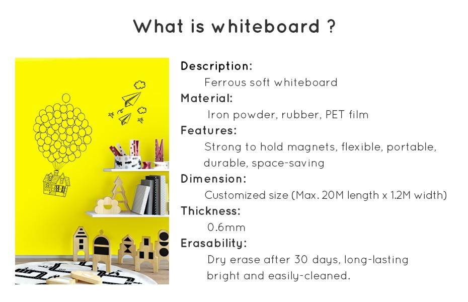 930_02 DIY Whiteboard Writing Board Dry Wipe Ferrous Whiteboard Message Yellow Board 120 x 80 cm x 0.6 mm