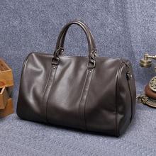 ETONWEAG New 2017 men brands cow leather brown luxury laptop bags casual business style shoulder bags zipper vintage handbags