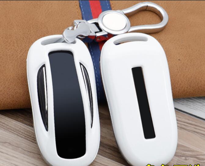 Car ABS Key Cover Holder Shell Pocket For Tesla Model X MODEL X Key Case Keychain Accessories Tesla Model X