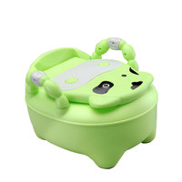 Children Toilet Cows Cartoon Baby Potty Training Boy Girl Portable Potty Chair Toilet Infants Toilet Child Pot with FREE Brush