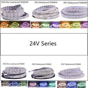 Image 4 - 5M 5050 SMD LED Strip RGB RGBW (RGB + White) RGBWW (RGB+Warm White) RGBCCT Flexible LED String light 5M/ 300 LEDs 12V  24V Home