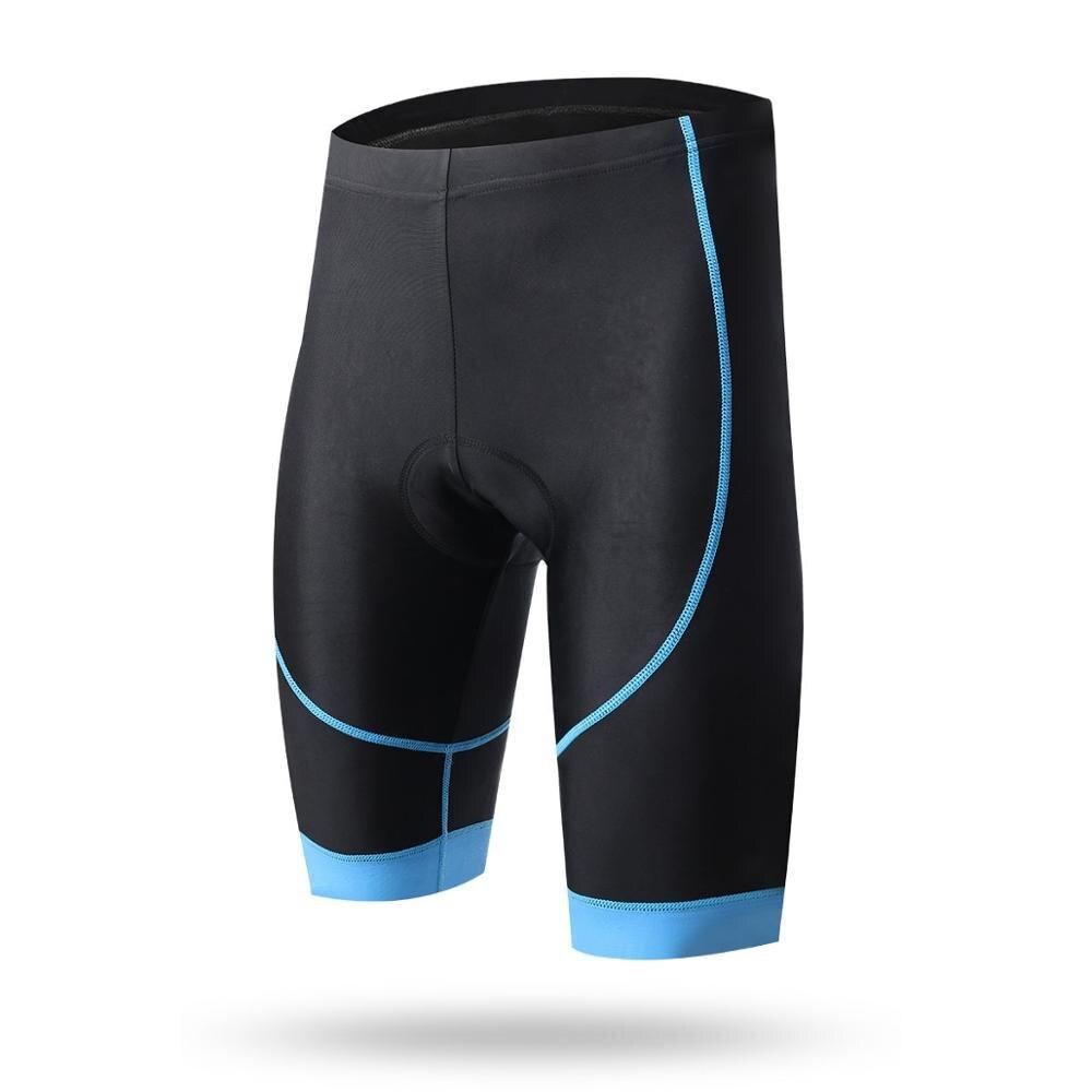Летние велосипедные плотные короткие ударопрочные велосипедные шорты с четырьмя иглами, дышащие и быстросохнущие велосипедные шорты, велосипедные костюмы - Цвет: blue