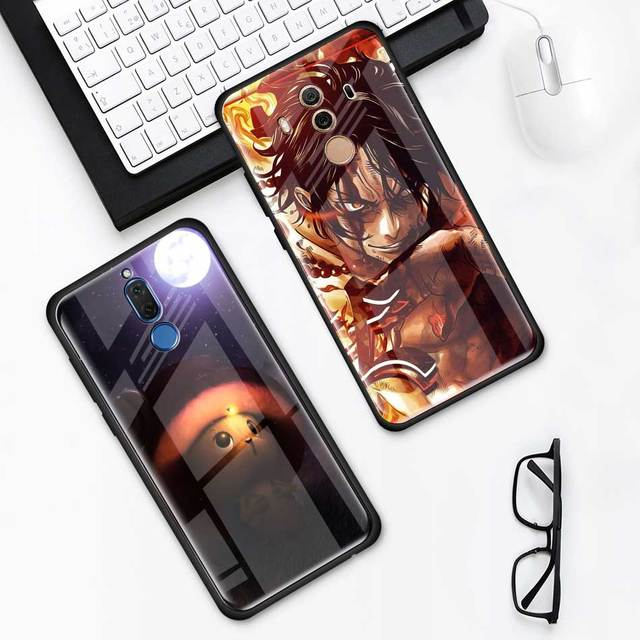 One Piece Luffy Tempered Glass Cover Case for Huawei Models