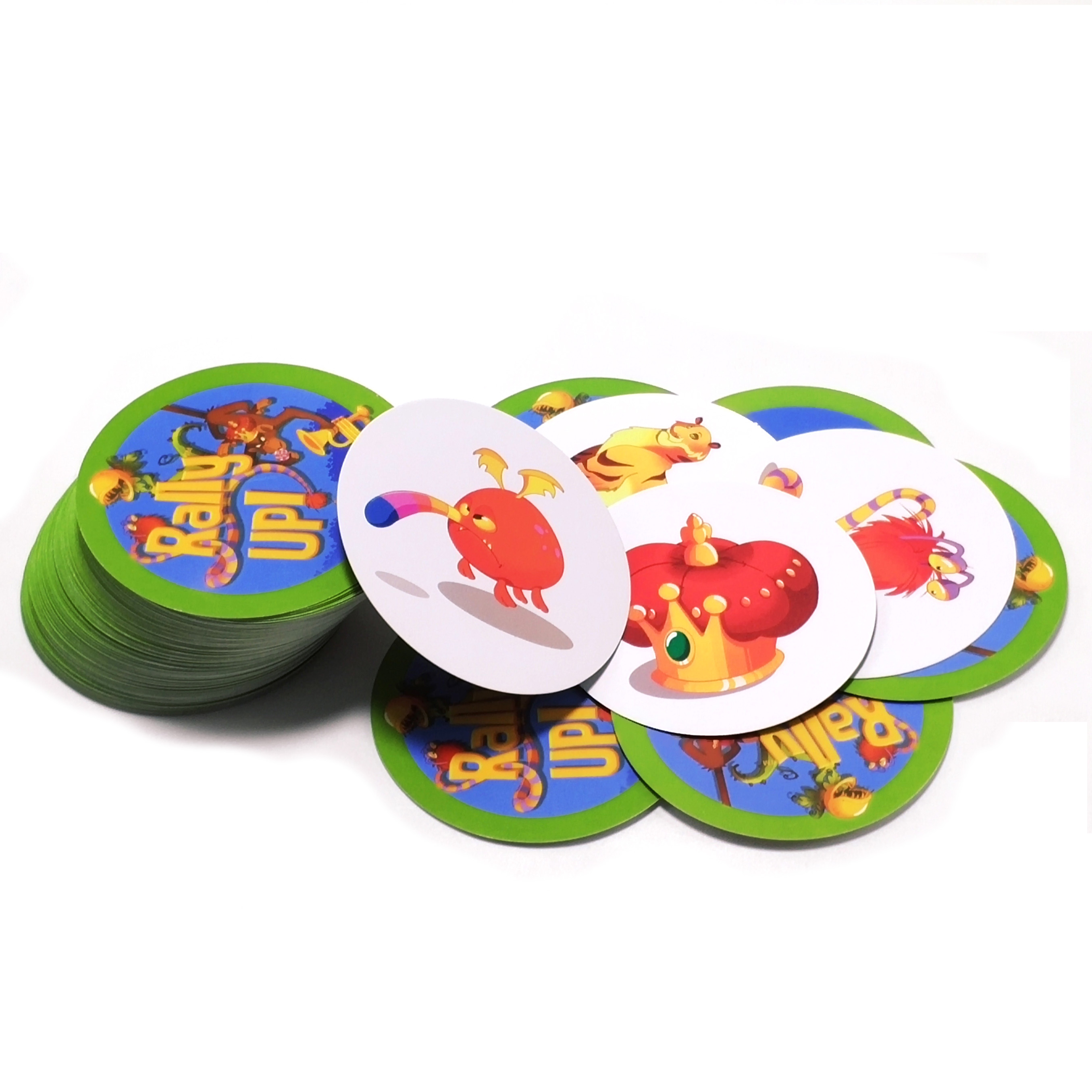 Rally It Up Board Game 121 Playing Cards For Home Party Entertainment Cards Game Category Spot Animals Plants Fruits Instruments