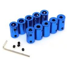 Acoplador de eixo flexível azul 5*8mm 5*5mm, alumínio, acoplador com parafuso para motor de passo acessórios 3d peças da impressora