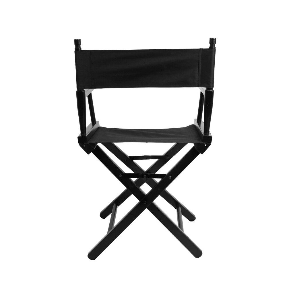 Chaise de directeur pliante Portable maquillage artiste directeur chaise en acier extérieur Camping pêche noir-in Accessoires pour studio photo from Electronique    2
