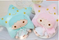 Cute 1pc 90cm twin star couple pillow air conditioning blanket