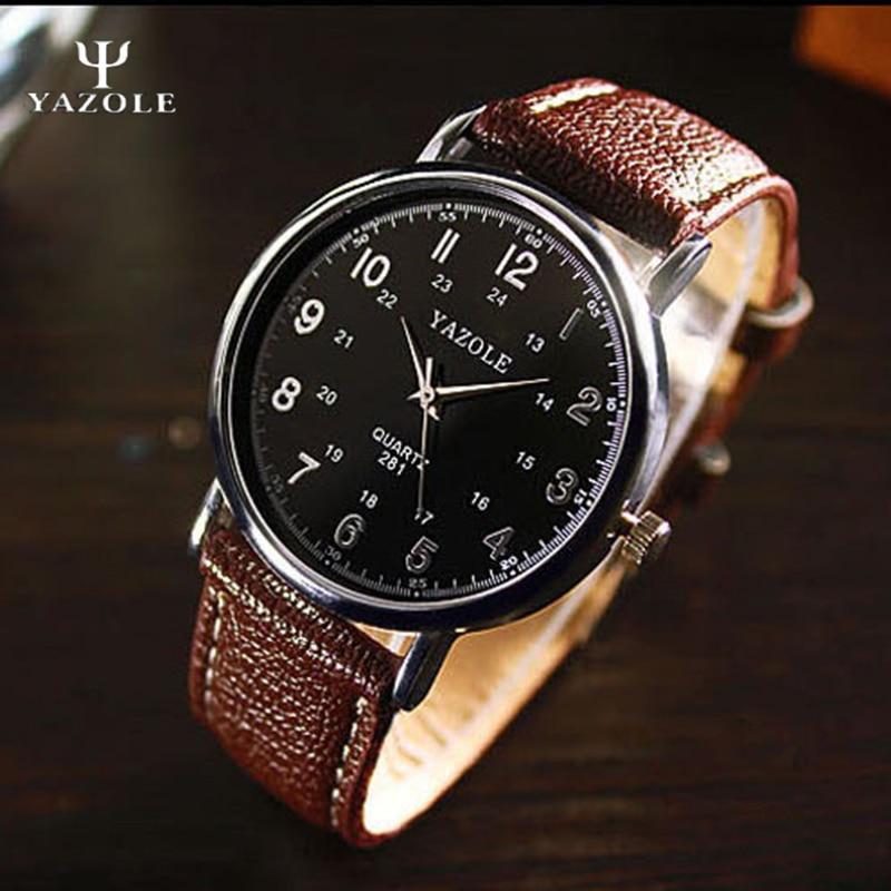 Mens Watches Top Brand Luxury Famous YAZOLE 2017 Quartz-watch Men Clock Male Wrist Watch for Men Quartz Watch Relogio Masculino men watches top brand luxury famous male