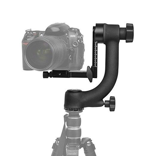 Alliage d'aluminium 360 degrés panoramique cardan trépied tête plateau de montage à billes pour Canon Nikon DSLR appareil photo reflex téléobjectif