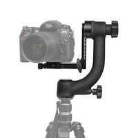 Aluminum Alloy 360 degree Panoramic Gimbal Tripod Head Ball Mount Tray for Canon Nikon DSLR SLR Camera Telephoto Lens