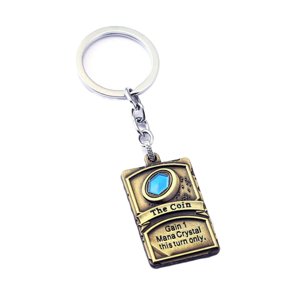 Fashion Jewelry Hearthstone Key Chain Heroes Lucky Coin Card Key Rings For Gift Chaveiro Car Keychain Game Key Holder