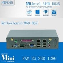 Мини-пк Win 8 VGA Minipc Linux ATOM D525 поддержка VGA 2 г оперативной памяти 128 г SSD 2 LAN 2 * WIFI / 3 г SMA антенны