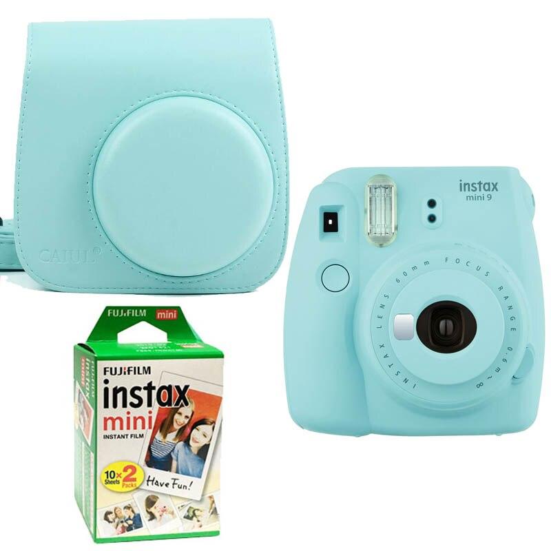 Fujifilm Instax Mini 9 Instantanée Impression Numérique Caméra Avec Twin Pack Film Photo Papier Et Caméra Protection Cas Sac