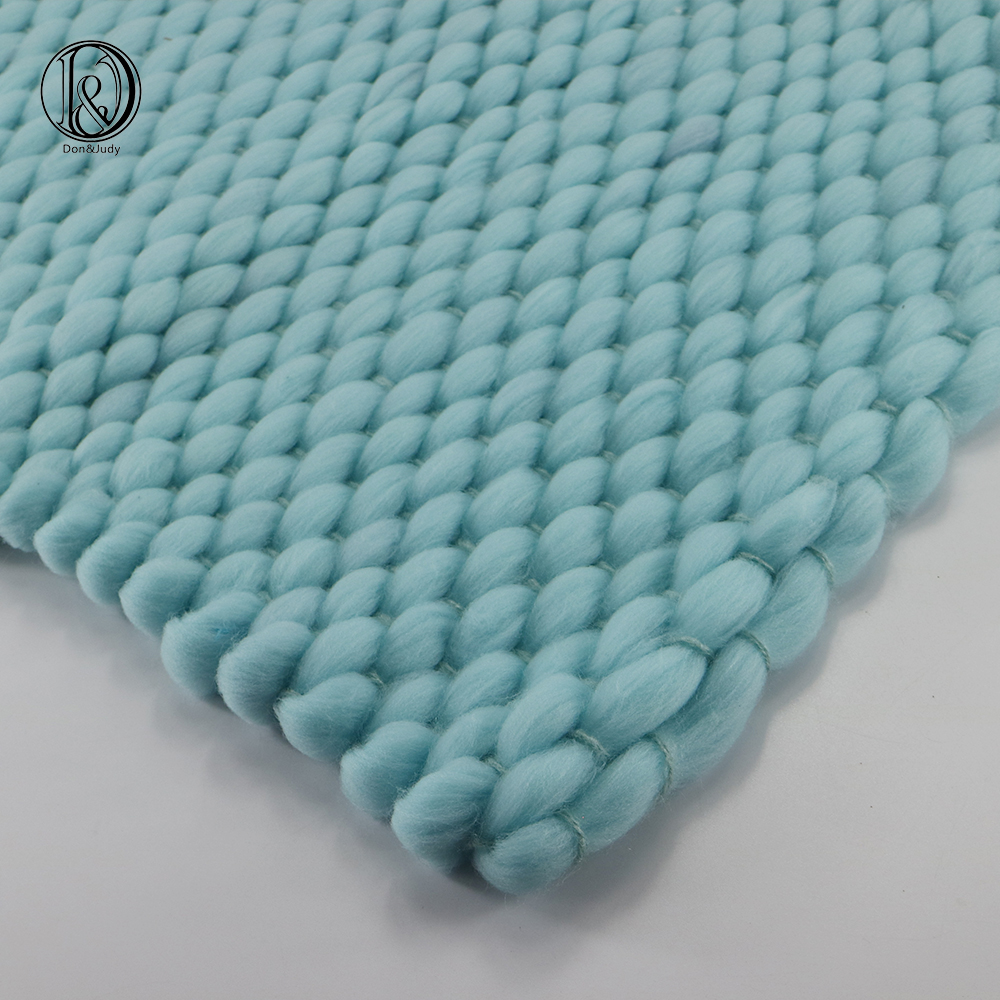 2pcs/lot (45x40cm) Handwoven Lopi Acrylic Blanket Basket Stuffer Filler Newborn Baby Photography Photo