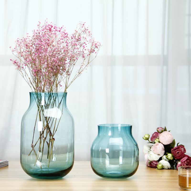 Hot Sale Creative Household Flower Vase Ornament Transparent Glass