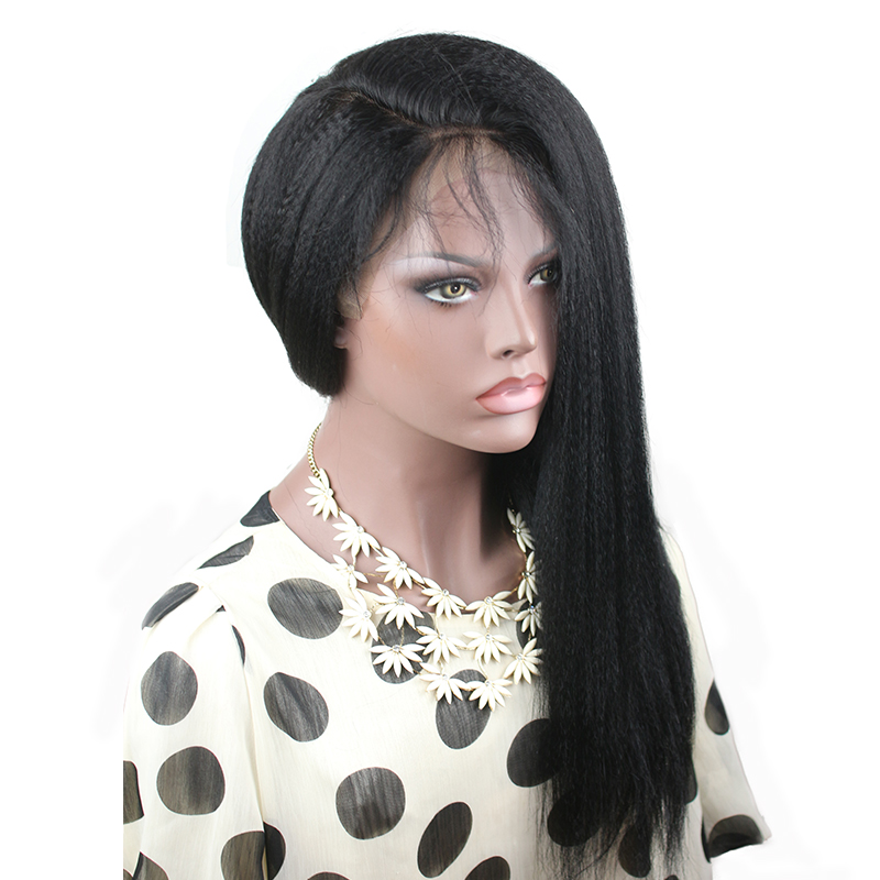 Eseewigs 150 Density Kinky Straight Full Lace Wigs For Black Women Brazilian Remy Human Hair Wigs Baby Hair Around Pre Plucked