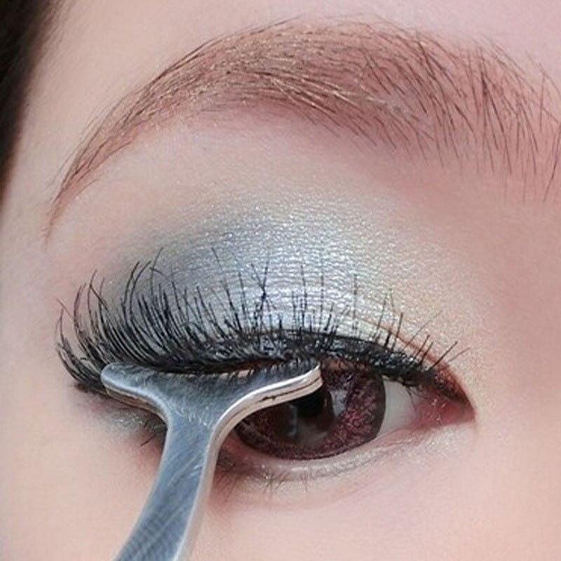 Beauty Tools Multifunctional False Eyelashes Tweezers Stainless Auxiliary Eyelash Curler Tweezers Eyelashes Clip